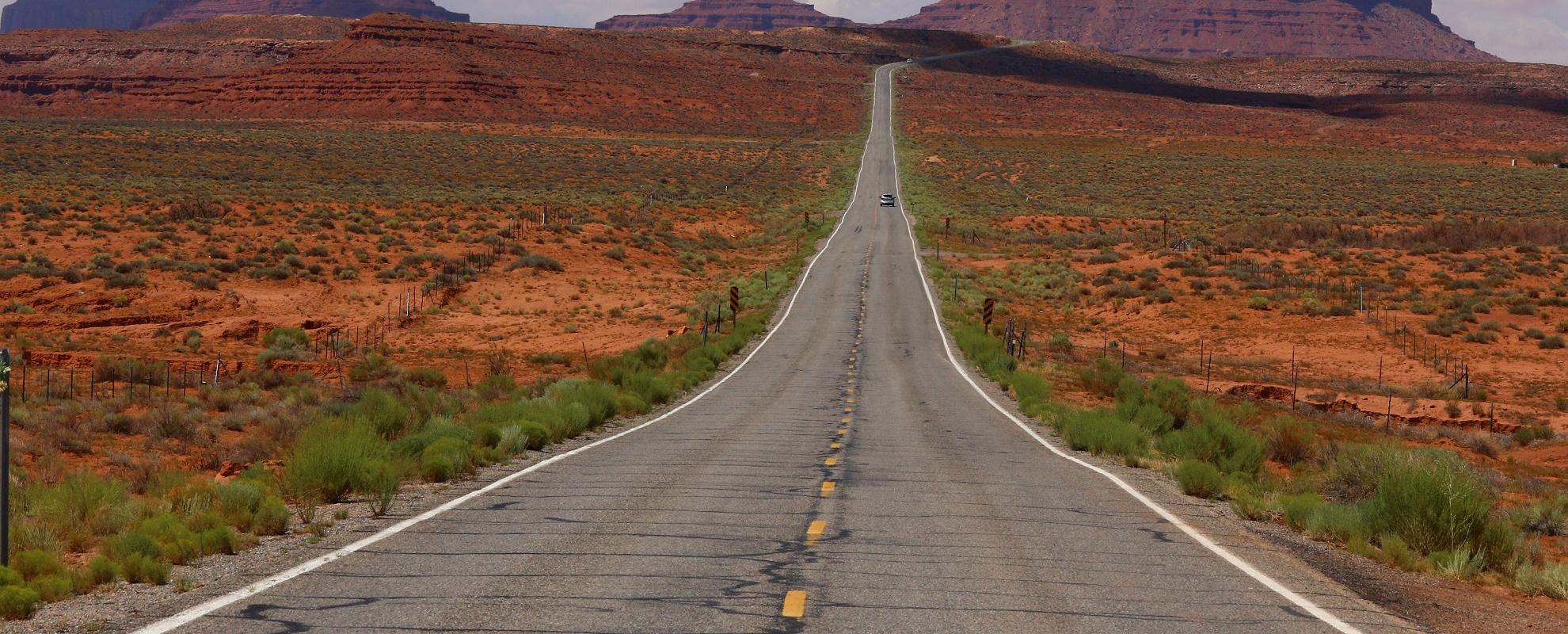 En approche de Monument Valley